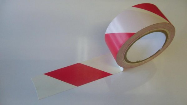 Red And White Sticky Hazard Tape