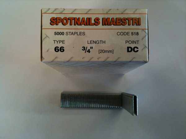 Spotnails Maestri 20mm Staples (5,000 Per Box)