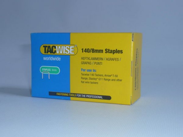 8mm/140 Staples For A11 Hammer Tacker (5,000 Per Packet)