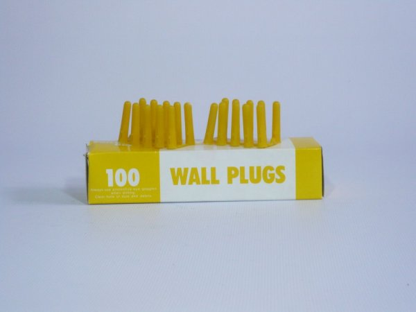 Yellow Plastic Rawl Plugs (100 Per Box)